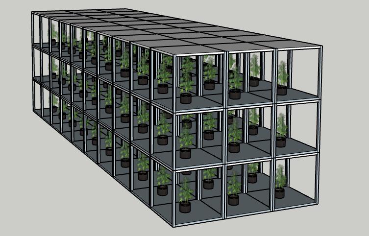 Design d'usine de culture verticale de cannabis